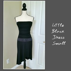♠ Black Dress Strapless Fitted Small Cocktail Club